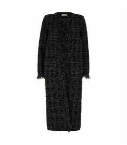 Metallic Tweed Long Coat