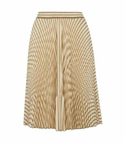 Glitter Striped Midi Skirt