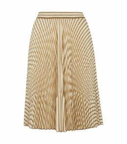 Glitter Striped Midi Skirt