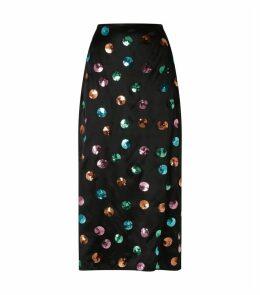 Kelly Sequin-Embellished Midi Skirt