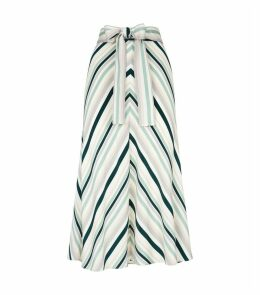 Stripe Midi Skirt