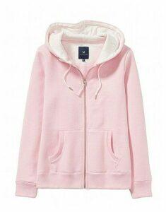 Zip Through Hoody in Pure Pink