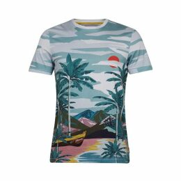 Ted Baker Boatri SS Placement Print T-Shirt
