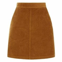 Warehouse Cord A-Line Skirt