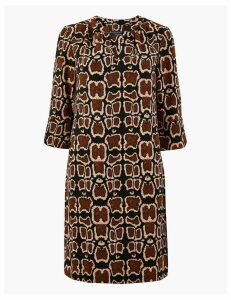 M&S Collection PETITE Animal Print Shift Dress