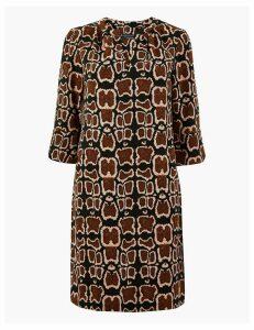 M&S Collection PETITE Animal Print Shift Dress