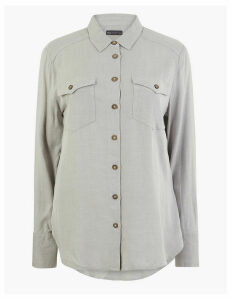 M&S Collection Pocket Detail Relaxed Fit Shirt