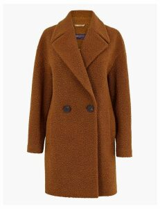 M&S Collection Bouclé Double Breasted Coat