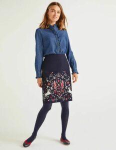 Olivia Embroidered Mini Skirt Navy Women Boden, Navy