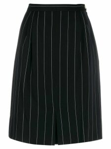 Valentino Pre-Owned 1980s pinstriped skirt - Black