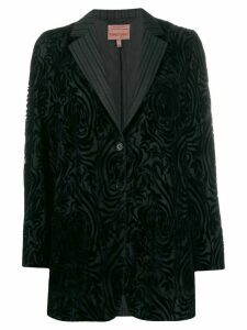Romeo Gigli Pre-Owned 1997 flocked jacket - Black