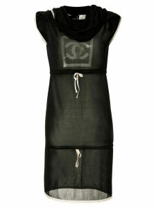 Chanel Pre-Owned Sports Line cowl neck drawstring dress - Black
