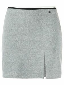 Chanel Pre-Owned stretch fitted mini skirt - Grey