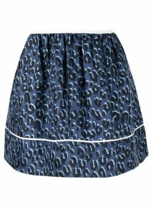 Louis Vuitton Pre-Owned leopard pattern skirt - Blue