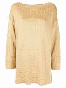 Fendi Pre-Owned Zucca round neck top - Yellow
