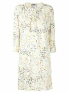 Chanel Pre-Owned scribble print dress suit - Yellow