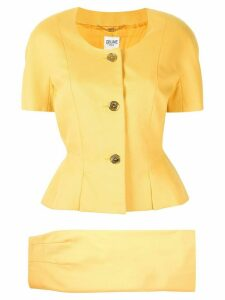 Céline Pre-Owned two-piece skirt suit - Yellow