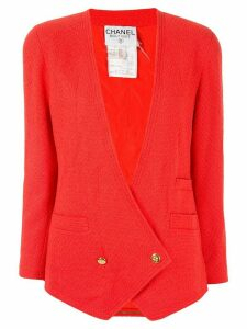 Chanel Pre-Owned CC button blazer - Red