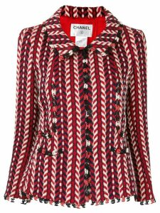 Chanel Pre-Owned chevron pattern jacket - Red
