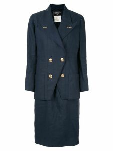 Chanel Pre-Owned two-piece dress suit - Blue