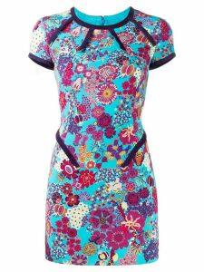 Versace Pre-Owned 2000 floral mini dress - Blue