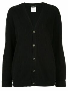 Chanel Pre-Owned textured relaxed cardigan - Black