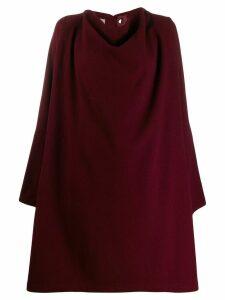 Yohji Yamamoto Pre-Owned 1990s draped loose-fit knee-length coat - Red