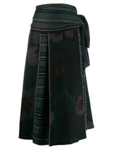 Kenzo Pre-Owned 1990s floral stripe skirt - Blue