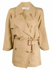LANVIN Pre-Owned 2007 belted trench coat - Neutrals