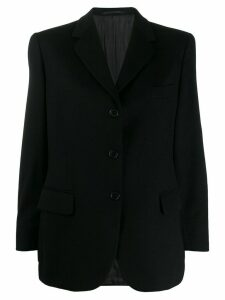 Burberry Pre-Owned 1990s buttoned boxy blazer - Black
