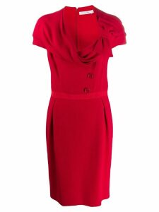 Christian Dior Pre-Owned 1990s draped neck dress - Red