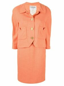 Chanel Pre-Owned CC button dress suit - Pink