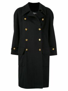 Chanel Pre-Owned CC button coat - Black