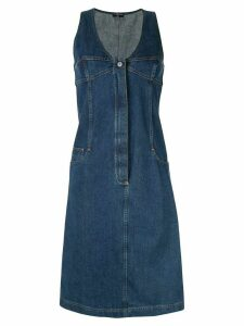 Chanel Pre-Owned sleeveless denim dress - Blue