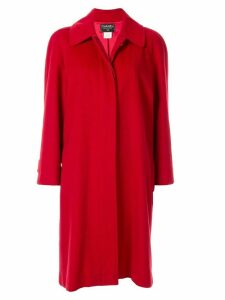 Chanel Pre-Owned 1996s CC button peacoat - Red