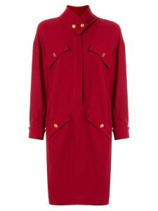 Chanel Pre-Owned cravat collar dress - Red