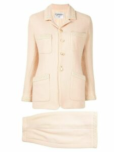 Chanel Pre-Owned CC setup suit jacket skirt - Neutrals