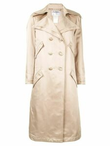 Chanel Pre-Owned double-breasted trench coat - Gold