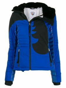 Rossignol faux-fur trim down jacket - Blue
