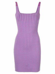 Nagnata houndstooth dress - Purple
