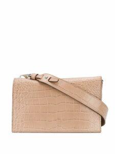 Tod's crocodile effect crossbody bag - Neutrals