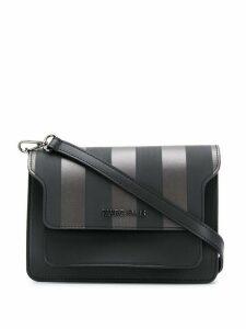 Marc Ellis striped shoulder bag - Black