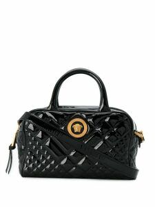 Versace quilted icon satchel bag - Black