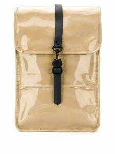 Rains glossy effect backpack - Neutrals