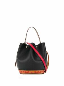 MCM colour block design bucket bag - Black