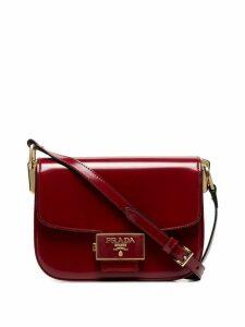 Prada red Pattina shoulder bag