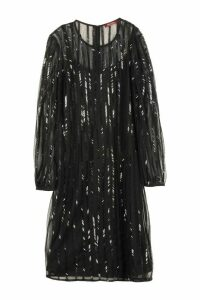 Max Mara Studio Zorro Sequins Embroidery Tulle Dress