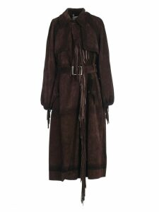 Golden Goose Trench Leather W/fringes