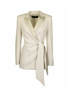 Max Mara Lambro Cady And Silk Satin Blazer