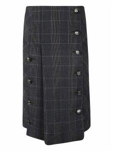Chloé Pleated Check Skirt